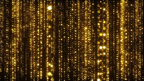 Golden Sparkling Particles Background