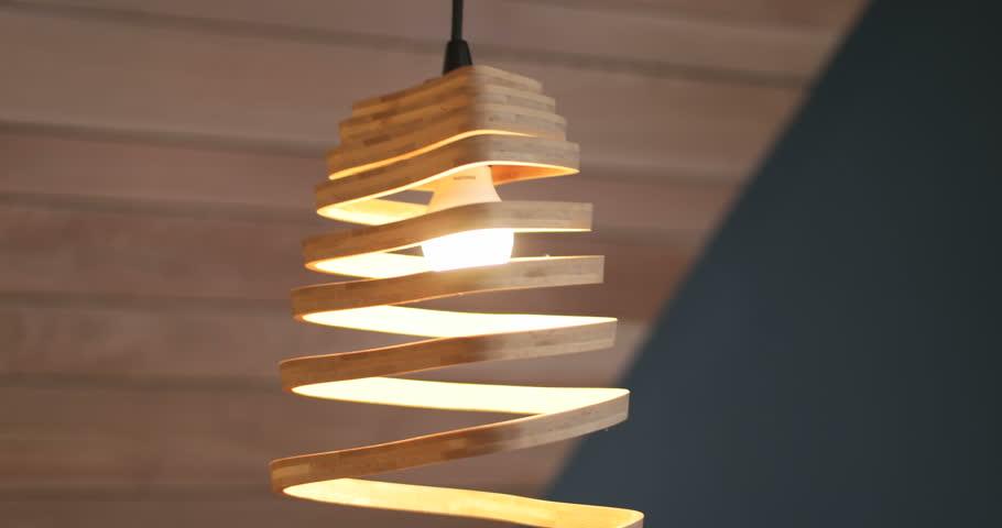 modern lamp in beautiful home
