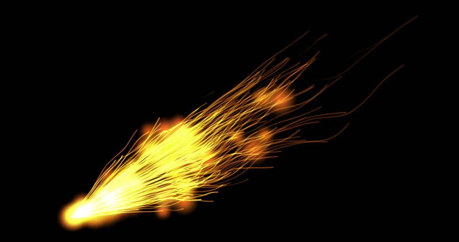 Sparks Comet 2 / Fast blinking comet scene.