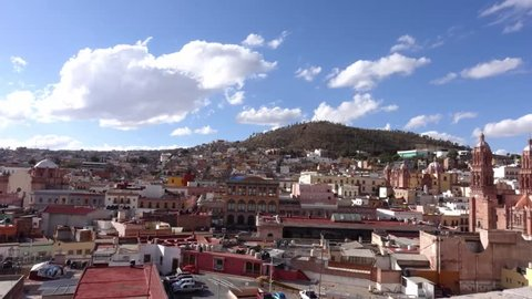 Zacatecas, Mexico, daytime timelapse