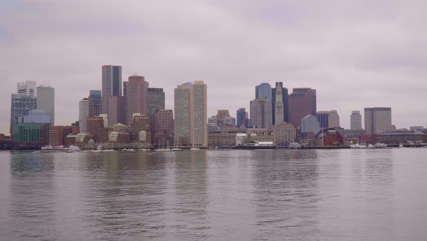 Skyline of Boston - view from Boston Harbor