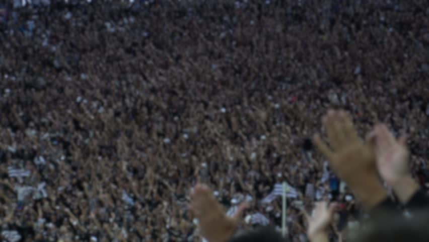 Crowd of People at Soccer Stadium in Brazil - Blur Effect | Shutterstock HD Video #26634667