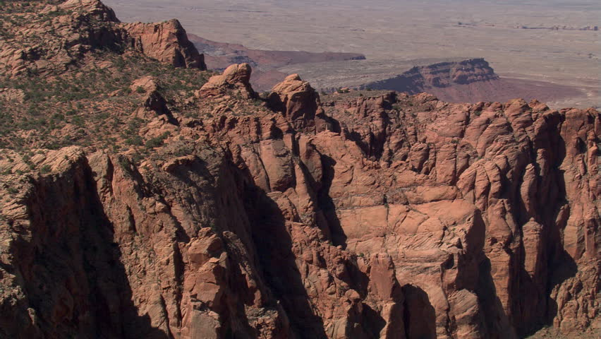 Flight approaching Arizona's Echo Cliffs, with pull-back | Shutterstock HD Video #26659903