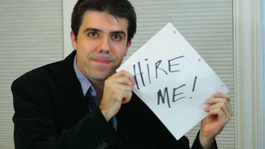 Young business man wanting to get hired.