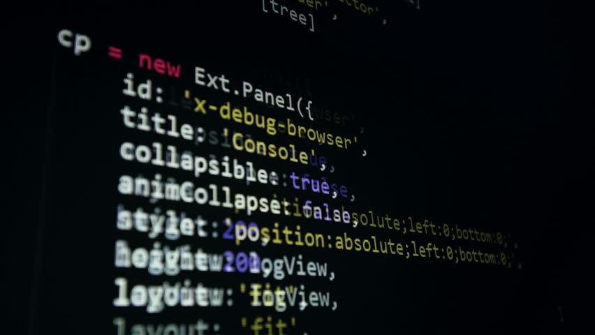 Computer binary code running on a Dark background. 4K. Loopable. | Shutterstock HD Video #26763613