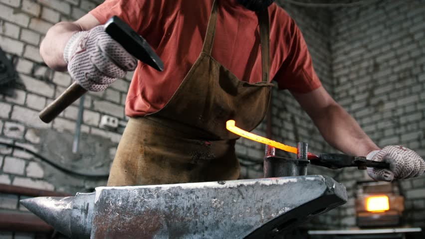 Muscular Man Blacksmith with Hammer Stock Footage Video (100% Royalty-free)  26783233 | Shutterstock