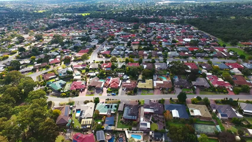 Aerial view of a suburb in south Australia, lifestyle living in adelaide   | Shutterstock HD Video #26805823