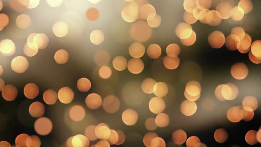 Golden Yellow Party Lights Celebrations Abstract