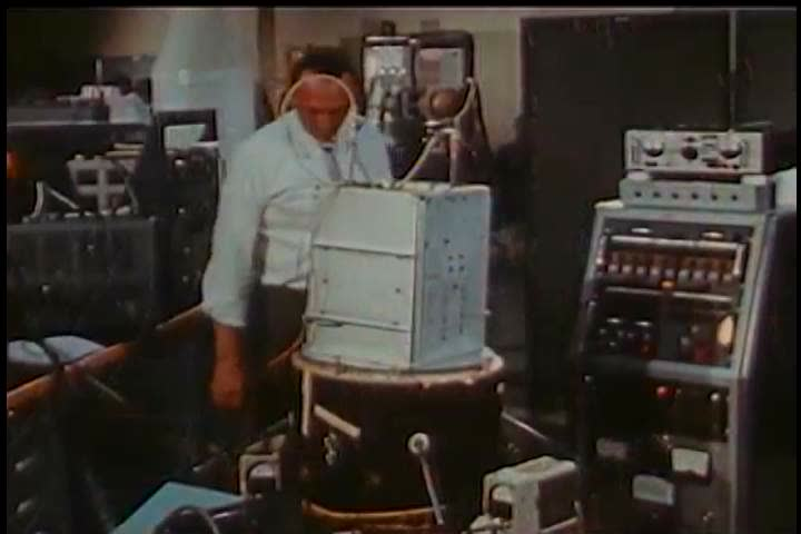 1960s: Radar equipment is tested for a spacecraft in 1961. | Shutterstock HD Video #26834893