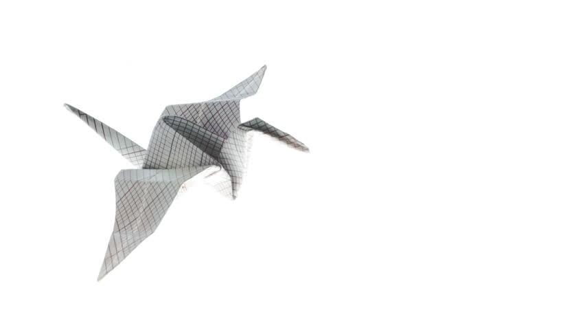 Beautiful Origami Crane Animated Origami Crane Flying In White