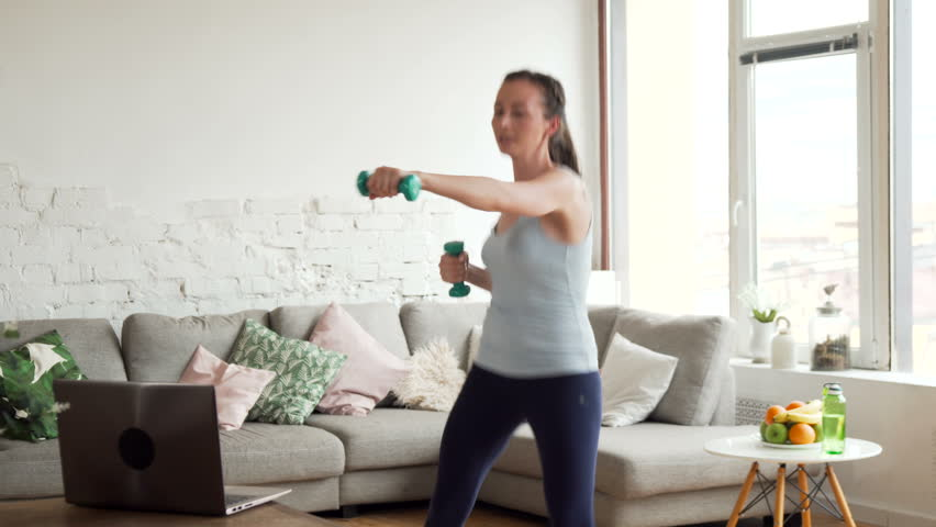 Young Fit Woman Warm up Stock Footage Video (100% Royalty-free) 26906593 |  Shutterstock