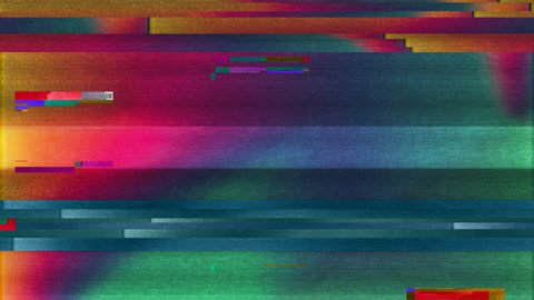 Abstract Colorful Noise Glitch Video Damage