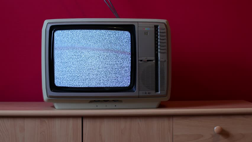 No signal just noise on an vintage TV set