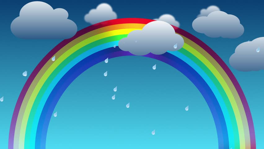 Днем босса, картинка радуга с анимациями