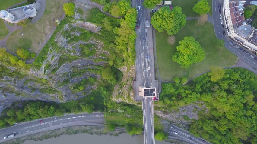 Clifton Suspension Bridge (Bird's Eye View) into Clifton