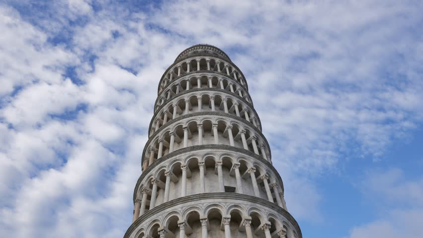 Leaning Tower, Dome of Pisa, Tuscany, Central Italy, Square of Miracles, Tourists Attraction, UNESCO. Dome of Pisa in morning light. | Shutterstock HD Video #27048043