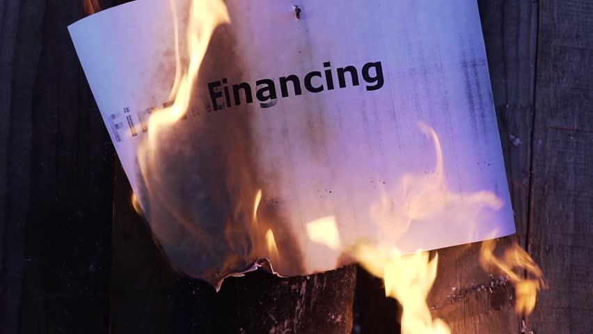 flaming word Financing