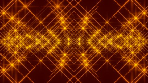 red abstract background and gold stars, loop