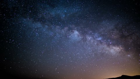 Milky Way Galaxy in Spring Sky 30 Time Lapse Stars and Meteors