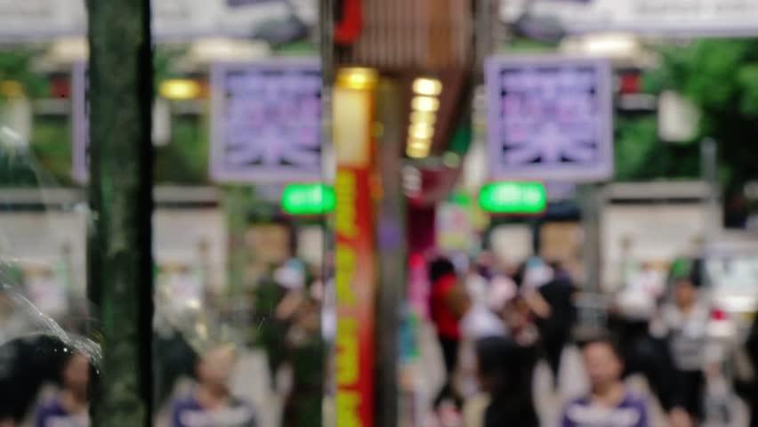 People on sidewalk Hong Kong daytime | Shutterstock HD Video #27221143