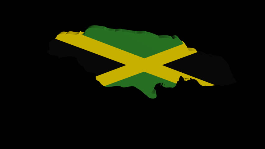 9fecb9e4e Jamaica Map Flag Rotating On Stock Footage Video (100% Royalty-free)  2722883 | Shutterstock
