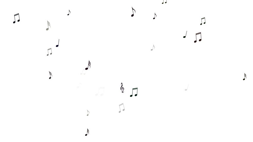 Musical Notes Looping Animated Background.