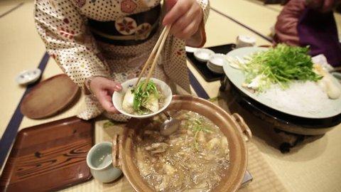Japanese food : KIRATANPO is famous food in Akita, Japan.