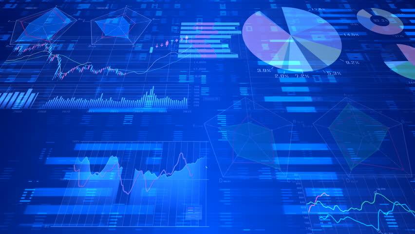 Business data graph digital world space. | Shutterstock HD Video #27301423