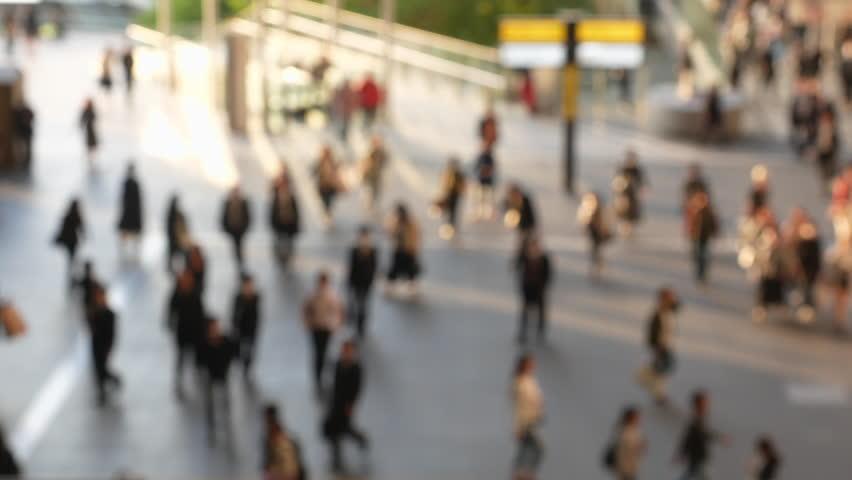 Blur People walking on Street Urban City Lifestyle background | Shutterstock HD Video #27304573