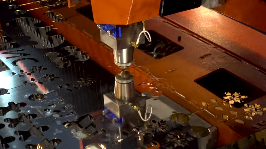 Cnc machine makes part in the factory | Shutterstock HD Video #27323653