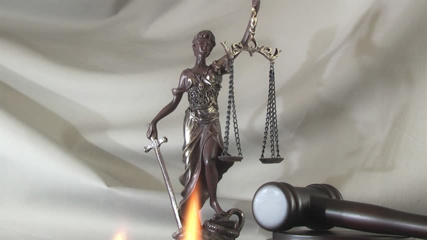 Law Concept With Themis Symbol Stock Footage Video 100 Royalty