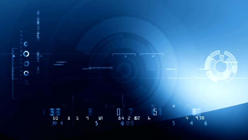 Digital Blue background ( Series 2 - Version From 1 to 12 )