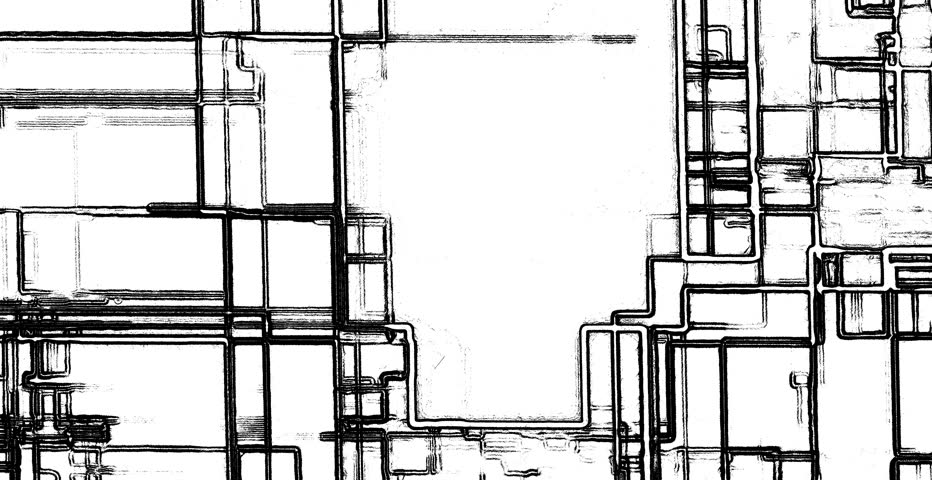 Geometrical Black And White Running Lines Background Of Flowing Rectangles