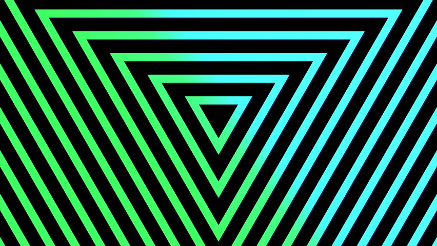 Geometric neon triangle abstract looping motion background