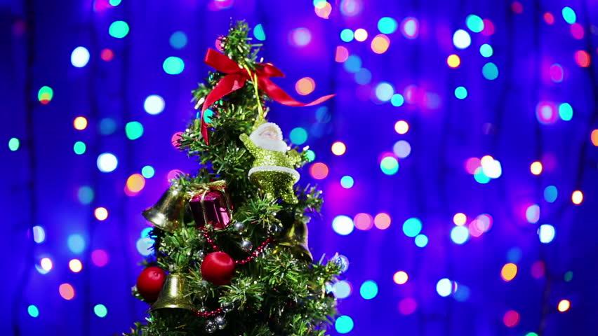 Nice Christmas Trees hd loopable background with nice christmas tree stock footage