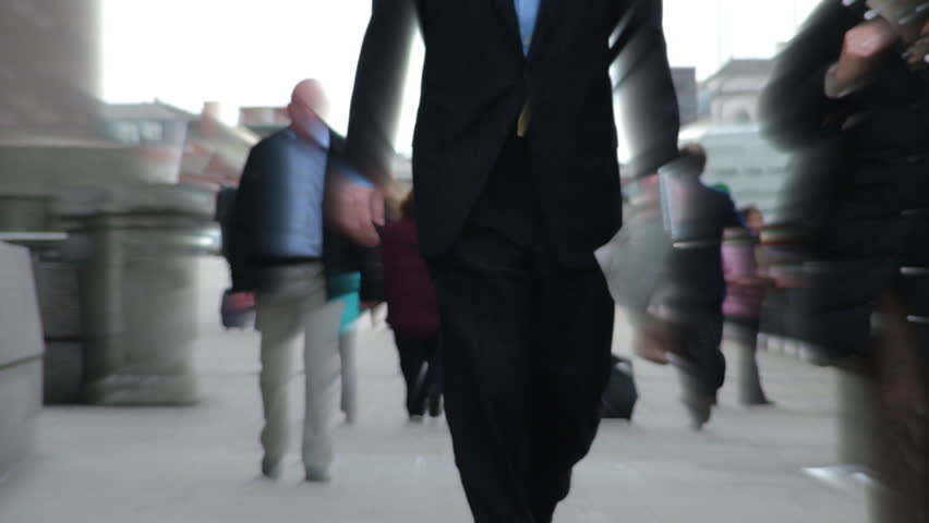 People in street timelapse business people in london  rush hour | Shutterstock HD Video #2754