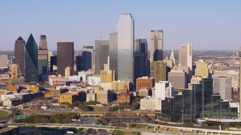 Dallas, Texas circa-2017, Aerial view of Dallas, Texas