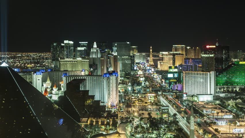 October 14th 2010, Time lapse Las Vegas at night from high above | Shutterstock HD Video #27570283