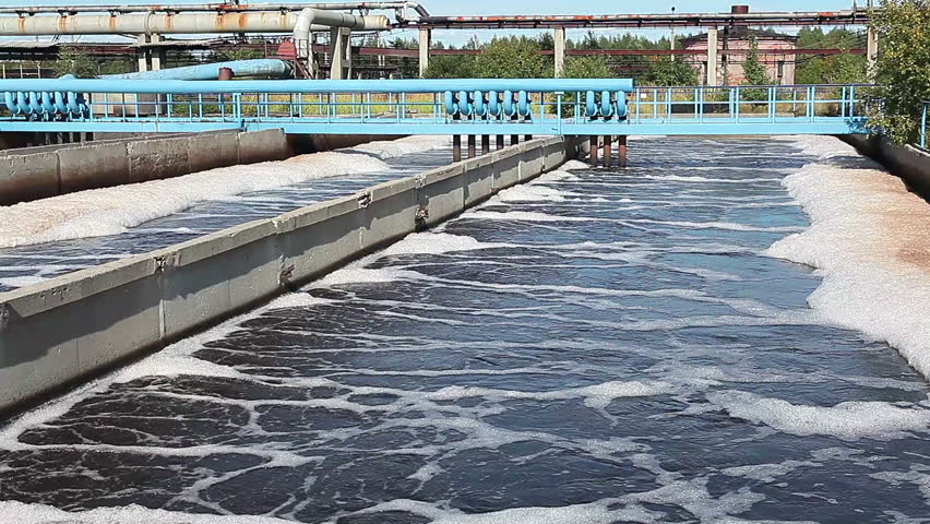 Water purification on industrial sewage treatment plant