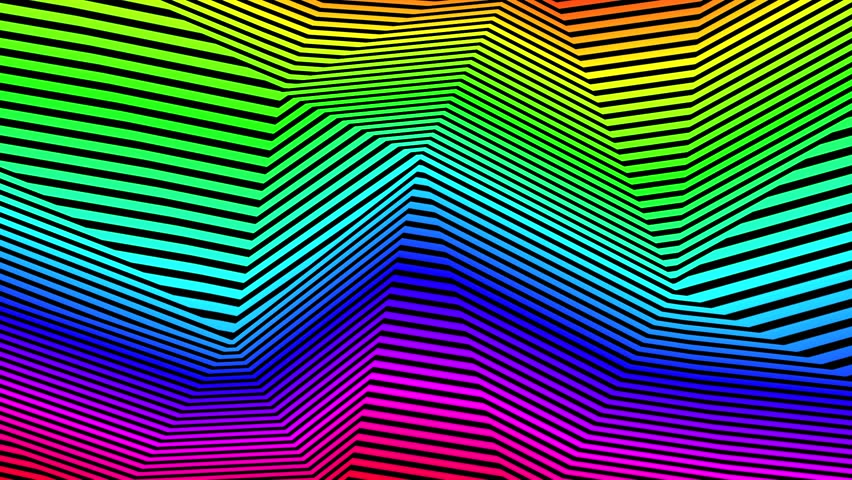 Abstract CGI motion graphics and animated backgrounds with rainbow distortion
