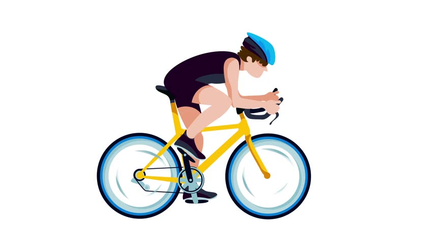 Road Bike Animation Loop And Change Color Function Stock ...