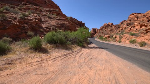 Valley of Fire Desert Highway Driving Plates Rear View 03 Southwest