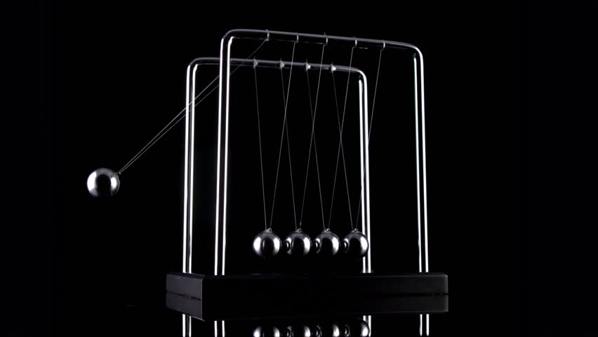 Newton's Cradle in slow motion.