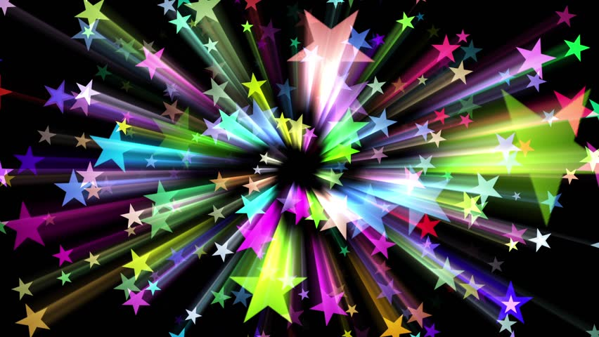 Five Pointed Stars Burst Streaks Colorful Abstract Motion Background Loop 1 | Shutterstock HD Video #27684223