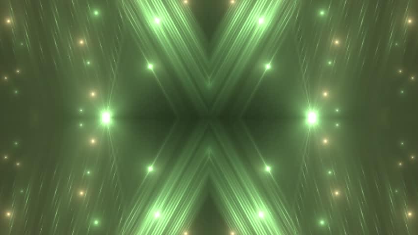 VJ Fractal green kaleidoscopic background. Background gold motion with fractal design. Disco spectrum lights concert spot bulb. Light Tunnel. Seamless loop. | Shutterstock HD Video #27778303