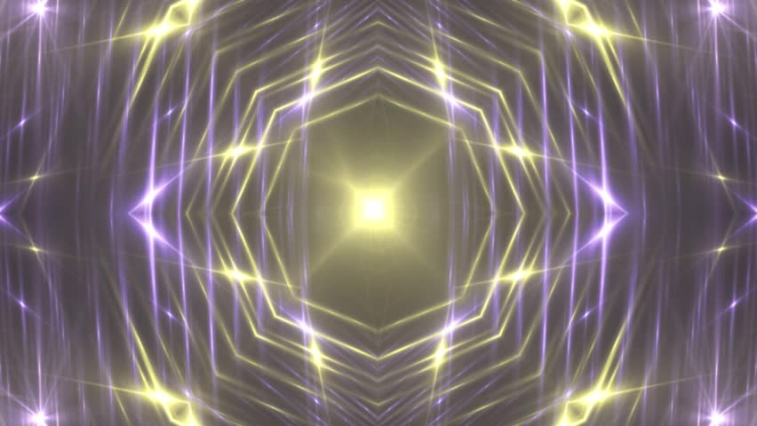 Gold and violet stage lights tunnel. Neon lights background disco floodlight with rays on black background. Movement of lasers. VJ Footage seamless loop. For background fashion show #27778363