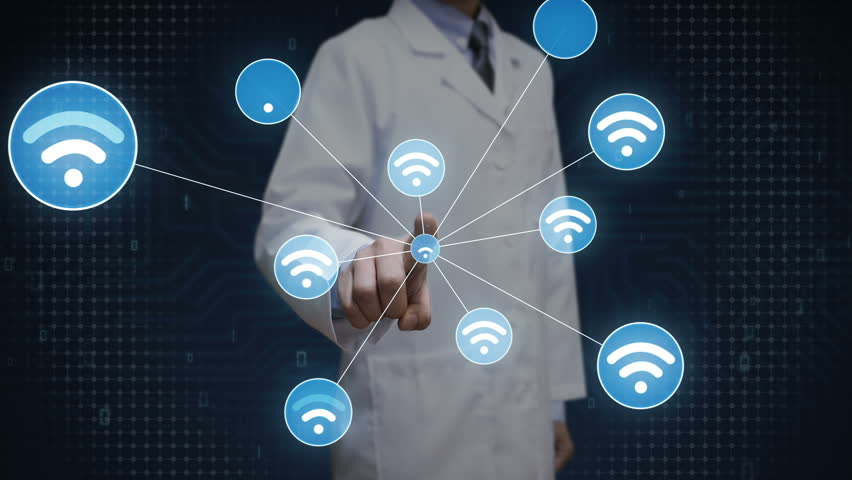 Scientist, engineer touching screen, Wireless technology icon connect global world map. dots makes world map, internet of things. | Shutterstock HD Video #27780643