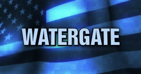 Ominous Political Statement Typography - Watergate