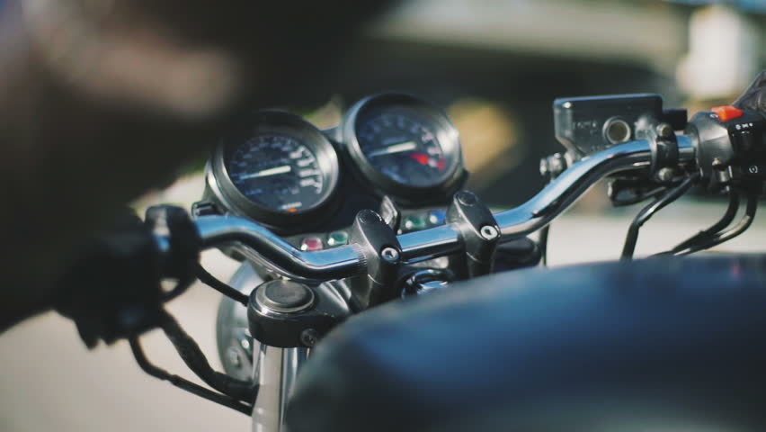 Close up shot of motorcycle bar | Shutterstock HD Video #27835003