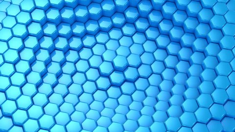 Background From Animated Hexagons. Abstract background, 2 in 1, loop (301-600 frames), created in 4K, 3d animation